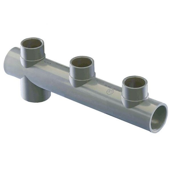 3 WAY MANIFOLD SIDE PVC