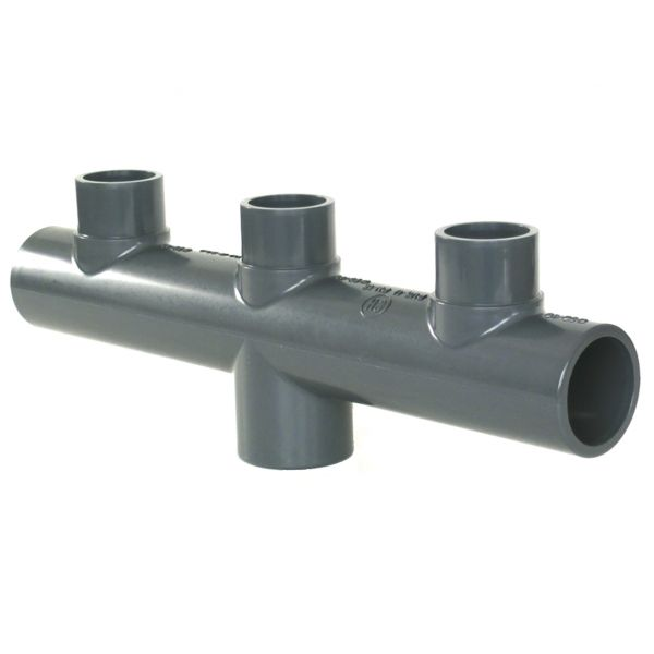 3 WAY MANIFOLD CENTRE PVC